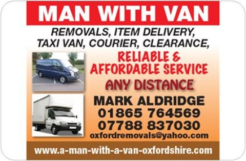 Oxford Removal Van: www.a-man-with-a-van-oxfordshire.com